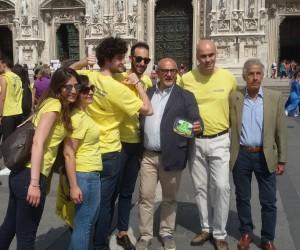 Antonio Oliva, Vice presidente di Banco Alimentare, Claude Sarrailh, Ad Metro Italia, e lo chef Claudio Sadler