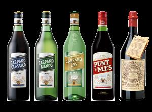 I cinque vermouth Carpano di F.lli Branca