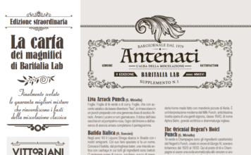La cocktail list di Baritalia