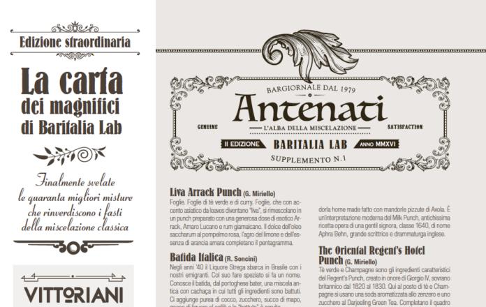 La cocktail list di Baritalia