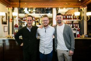i finalisti della quarta edizione della Campari Barman Competition: Adriano Rizzuto, Alessandro Pitanti, Ettore Barbato.