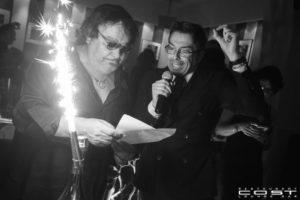 Stefano Bottega e Umberto Smaila brindano con Bottega Gold Prosecco Doc.