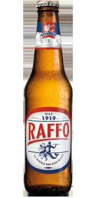 La nuova bottiglia di Birra Raffo, Taranto.