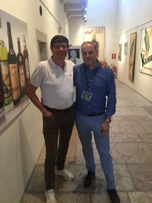 Il curatore della mostra e autore del libro-catalogo Valerio Bigano con Nicola Dal Toso