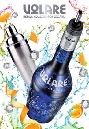 Bottiglia Blue Curaçao della gamma di liquori per la miscelazione Volare