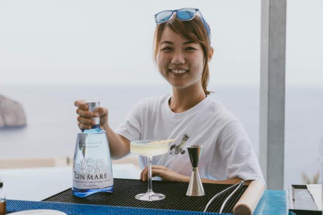 Summer Chen con Amigos para siempre, cocktail vincitore Mediterranean Inspirations 2018 by Gin Mare