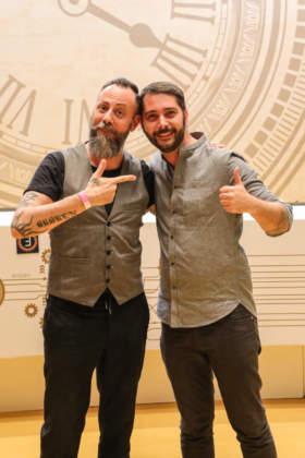 Cat. Harry Johnson: Massimo Sandri con il coach Campari Academy Luca Casale