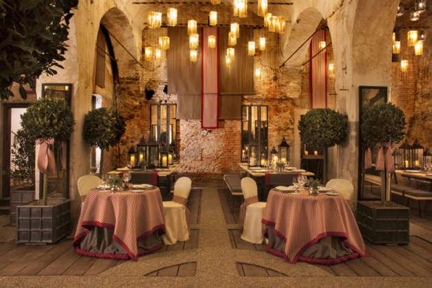 Felsenkeller temporary restaurant Forst presso lo stabilimento di Lagundo (Bz)