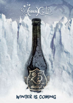 Birra 25 Dodici di Birra del Borgo in versione innevata