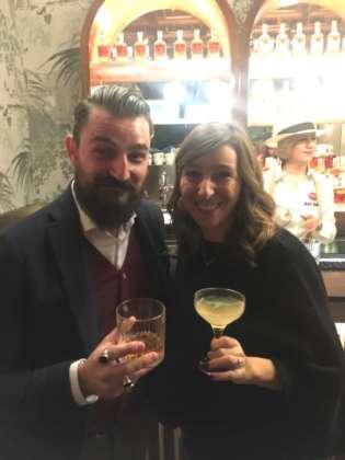 Emanuele Cugini, brand ambassador Italia di Bacardi, con Manuela Kemlin, marketing manager area Francia, Italia, Grecia di Bacardi