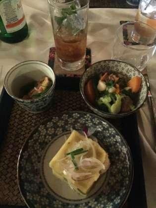 Primo piatto Fufù con cocktail Chin-Ocho