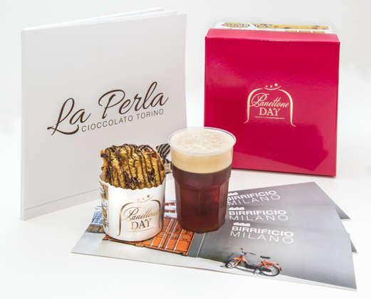 La birra scura Otto Cubano di Birrificio Milano scelta per accompagnare le degustazioni di Panettone Day, insieme con la crema al gianduja La Perla di Torino.