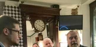 """Presentazione del libro """"Birre"""" al Matricola Irish Pub di Milano con Alessio Lana e l'autore Maurizio Maestrelli."""