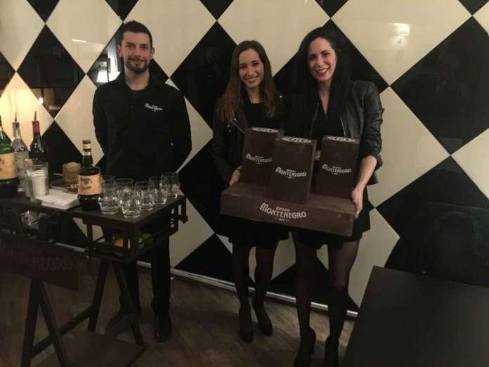 Bartender e hostess alla serata party Montenegro al Milord di Milano