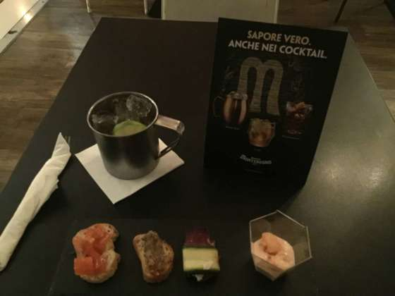Cocktail Monte Mule by Amaro Montenegro con abbinamento food by Milord
