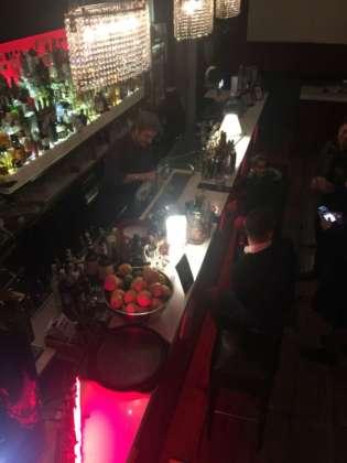 Il banco bar del Cocktail Bar Milord di Milano