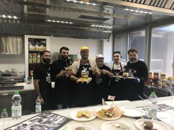 Concorrenti Burger Battle presso la sede Unilever Food Solutions. Roma