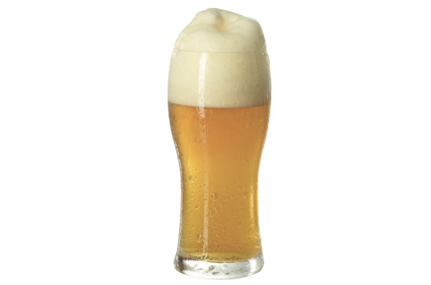 Bicchiere alto, grande, svasato e capiente che permette la formazione di schiume compatte come quelle delle weizen.