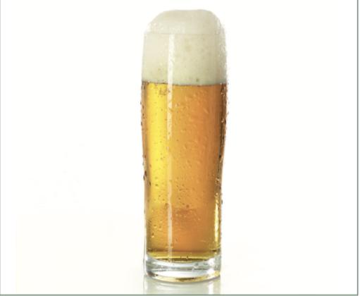 Bicchiere lalto leggermente svasato per birre a bassa fermentazione