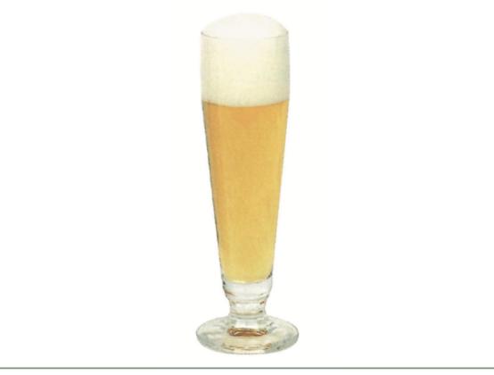 Bicchiere alto, stretto e slanciato, ideale per mettere in evidenza il perlage di lager e pils.