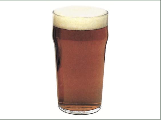 Pinta, tipico bicchiere per birre anglossassoni tipo ale, porter e stout.