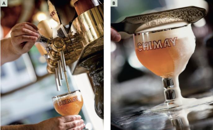 Spillatura di birra belga (foto courtesy Chimay)