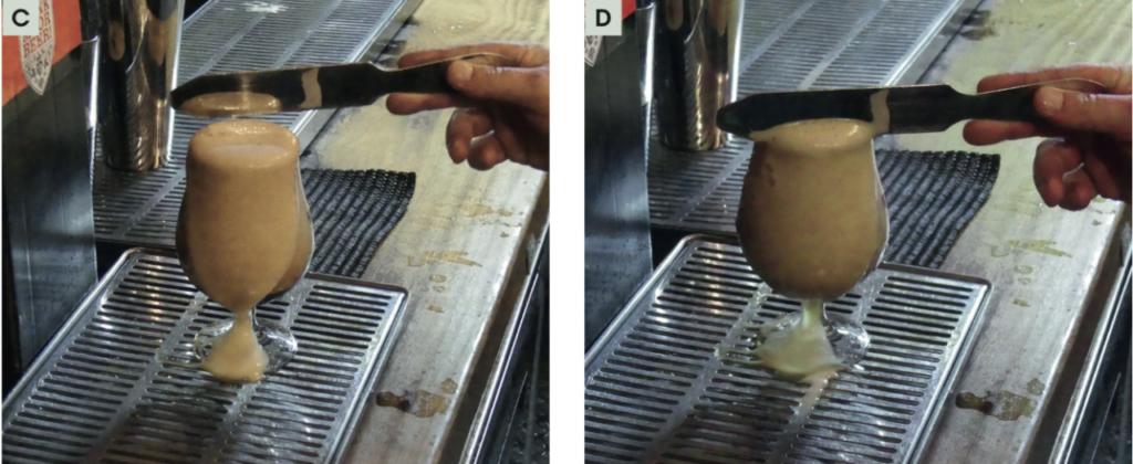 Taglio della schiuma per la spillatura belga (foto courtesy Mirco Marconi)
