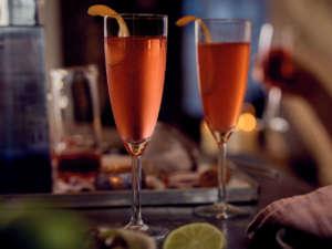 San Valentino Ciroc Vodka Champagne Cosmo