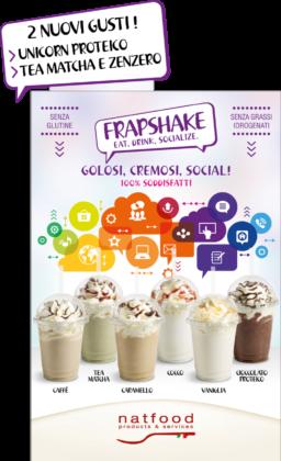 Locandina Frapshake Natfood con le novità
