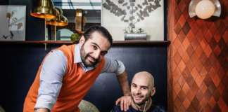 Il bartender Luca Cinalli e lo chef Carlo Cinalli, autori di Pasta al Negroni.