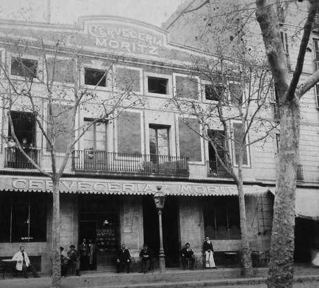 La storica sede di Cerveceria Moritz in Ronda Sant Antoni a Barcellona