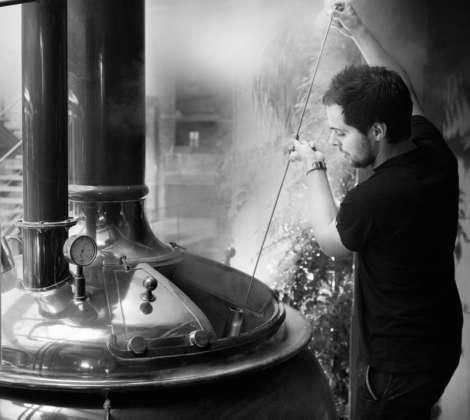 Cotta di birra Moritz Fresco nel microbirrificio di Ronda Sant Antoni a Barcellona