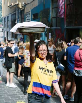 Festa di strada Moritz Laneway Festival a Melbourne (Australia)
