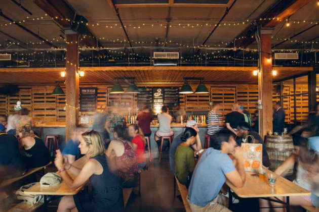 Tasting room di Brooklyn Brewery a New York
