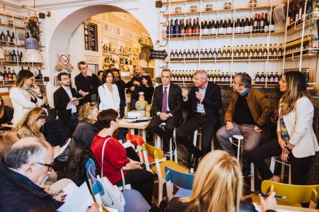 Presentazione dell'accordo e delle birra al flagship store Caramella con Alfredo Pratolongo, Soren Hagh, Domenico Sorrenti e Katia Pantaleo.