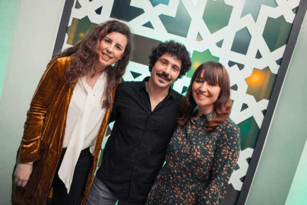 Da sinistra Rocio Garcia-lomas Alvarez-valdes, Alan Sastre e Loli Rodriguez Fernandez