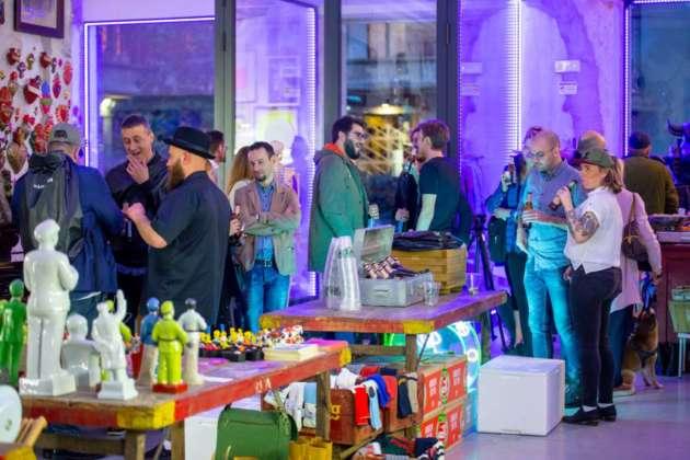 Party di presentazione di Brooklyn Special Effets Hoppy Lager Alcoholic Free all'East Market Shop di Milano