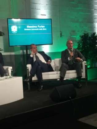 il rettore Liuc Federico Visconti e il direttore UniBirra Massimo Furlan.