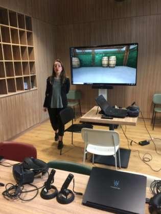 Sala didattica del Percorso Virtuale.