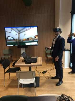 Dimostrazione del Percorso Virtuale con il visore.