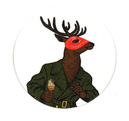La nuova mascotte del cervo Cognac Hine