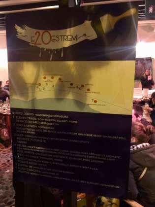 Piantina dei locali e degli stand aderenti alla festa 20 Anni Estremadura Café.