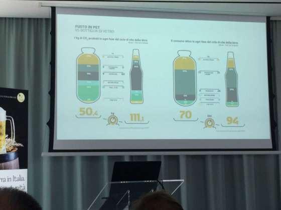 Antonella Reggiori presenta i vantaggi del fusto Pet rispetto alla bottiglia in vetro