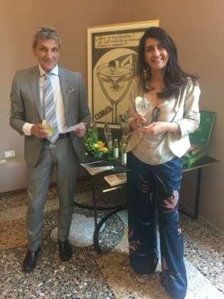 L'ad Cedral Tassoni Elio Accardo e la responsabile vendite Liana Castaldo