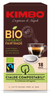 Cialde compostabili Kimbo Bio Organic Fairtrade