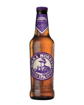 Birra Moretti IPA-Italian Pale Ale in bottiglia 33 cl