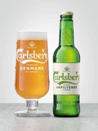 Carlsberg Danish Pilsner Unfiltered in bottiglia 50 cl