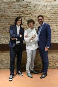 Da sinistra Cameron Jamie, Guy Martin e Massimiliano Pogliani