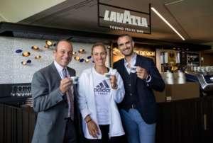 Giuseppe Lavazza, Kerber e Marco Lavazza a Wimbledon