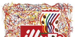Il quadro realizzato da Rosenquist per illy